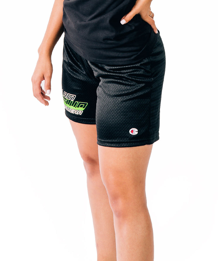 NEWD CHAMPION MESH SHORTS BLACK