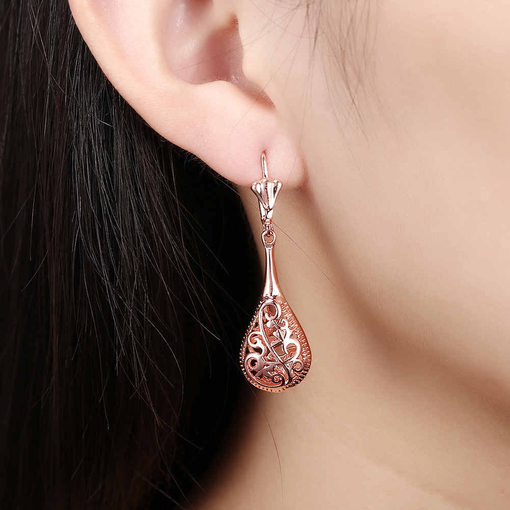 18K Rose Gold Bohemian Drop Earring
