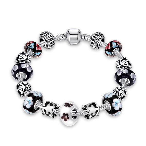 Flower Bundles Pandora Inspired Bracelet Made with Swarovski Elements