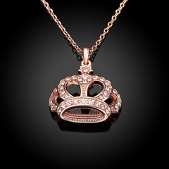 18K Rose Gold Plated Swag King Necklace