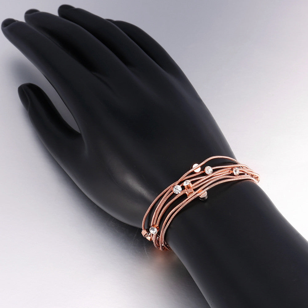 18K Rose Gold Plated Wrap Bracelet