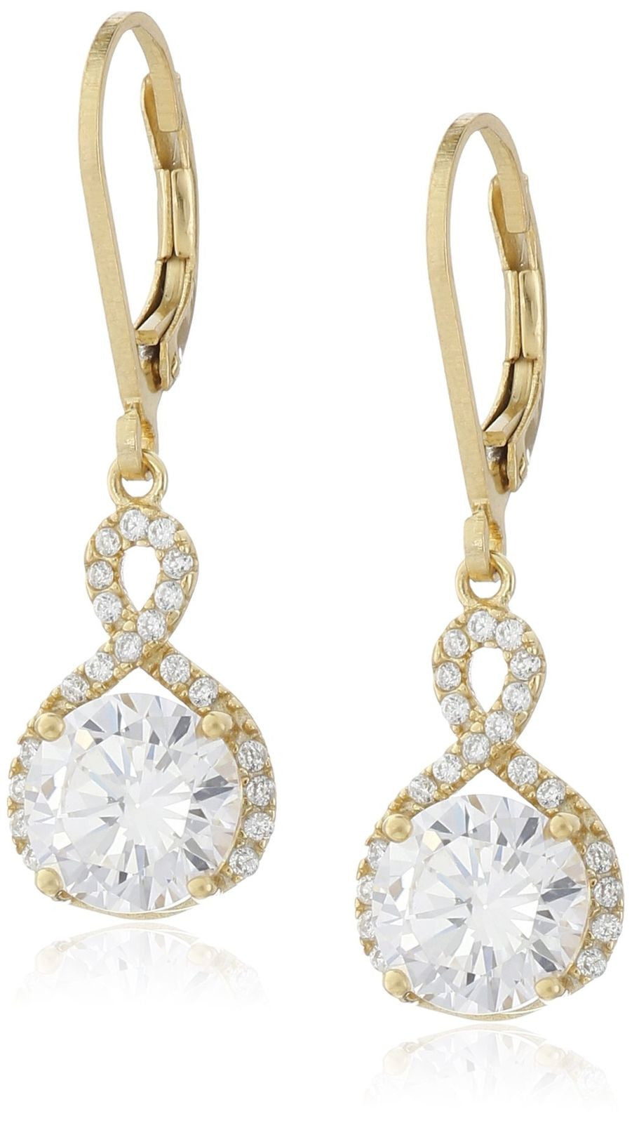 Swarovski Infinity Crystal Drop Earrings - Gold