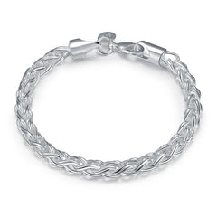 Byzantine Bracelet Chain in 18K White Gold Plated