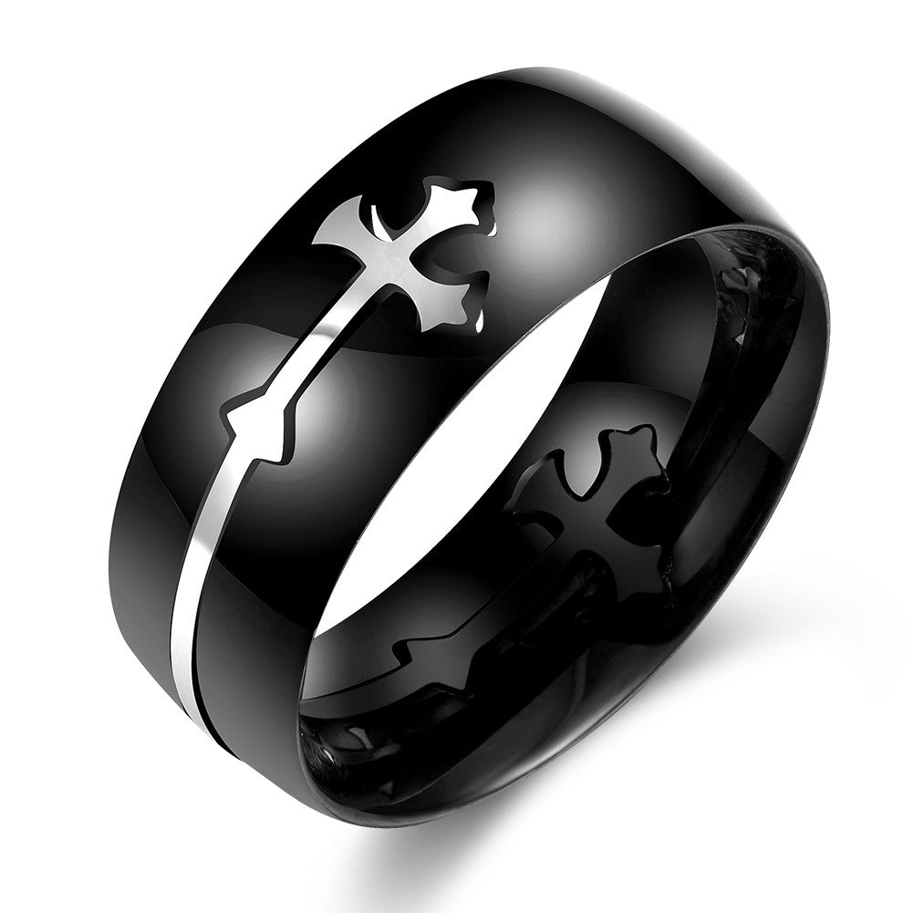Onyx Religious Cross Band