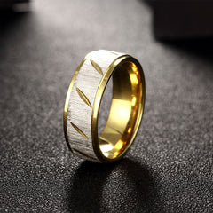 Swarovski Crystal Stainless Steel & Gold Curve Band