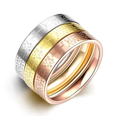 Tri-Tone 'Padre' Prayer Stackable Band Set