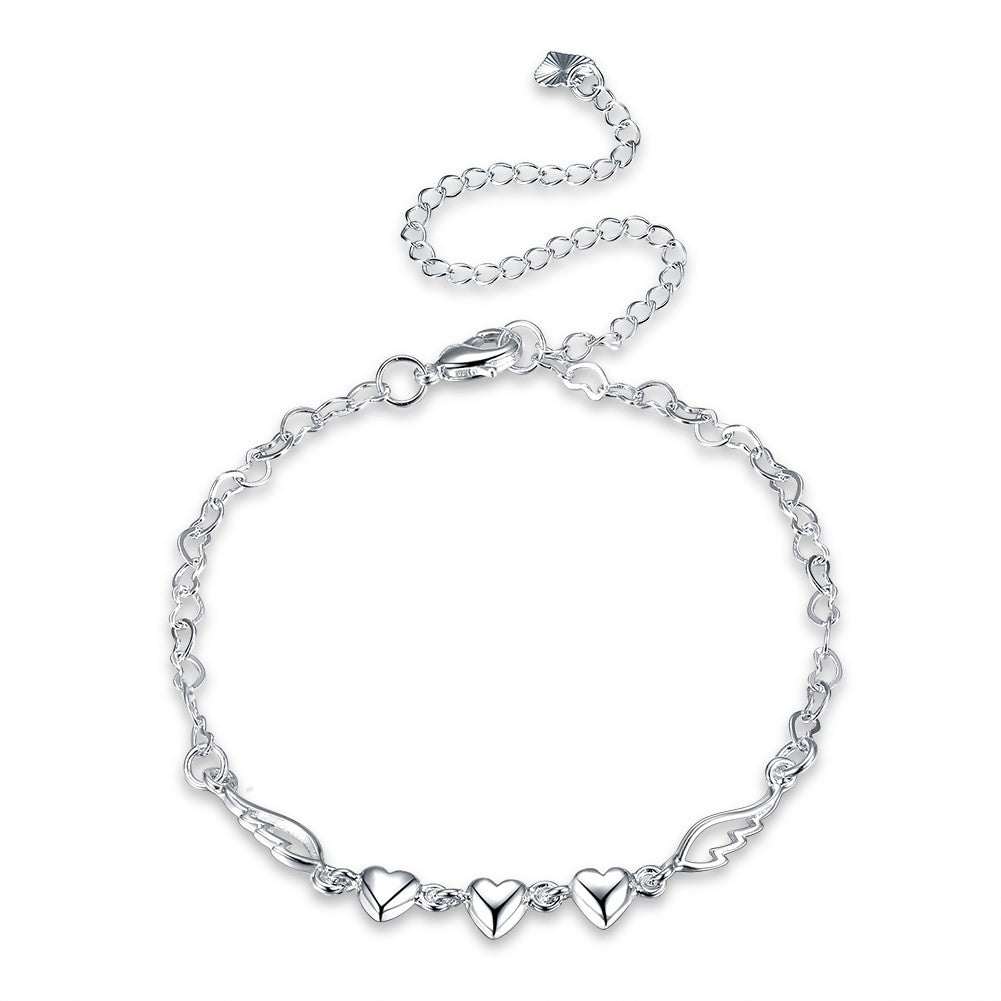 18K White Gold Plated Anklet