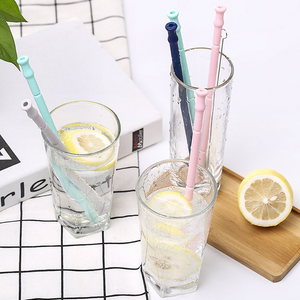Silicone Reusable Straws With Case