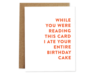 Rhubarb Paper Co. - Entire Cake (Birthday) card