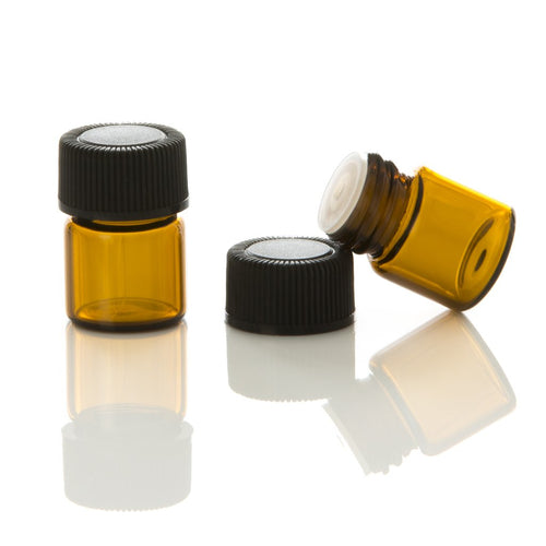Jar Bar™ Refillery - Amber Vials with orifice reducer