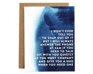 Rhubarb Paper Co. - 3 AM Compassion Card