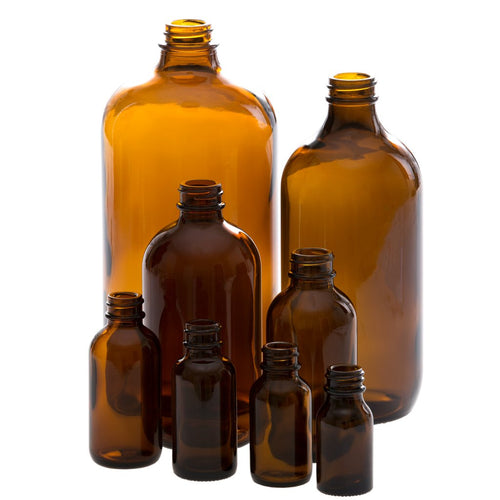 Jar Bar™ Refillery - Amber Bottles + Lids
