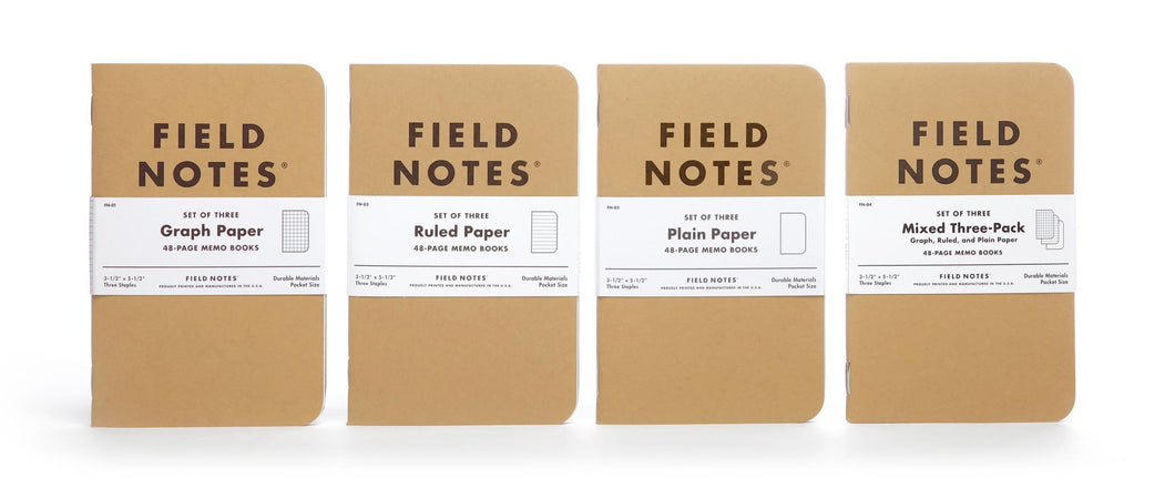 Field Notes Kraft Paper Memo Books (set of 3)