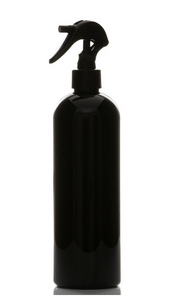 Jar Bar™ Refillery - 16oz black PET bullet bottle with black mini trigger sprayer