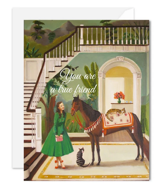 Janet Hill Studio - You Are a True Friend Card