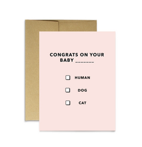 Party Mountain Paper Co. - Baby/New Pet - Baby Multiple Choice card