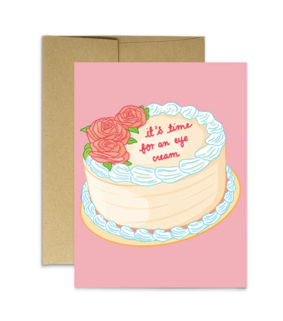 Party Mountain Paper Co. - Birthday - Time for Eye Cream card