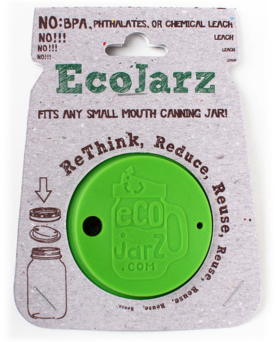 EcoJarz - Silicone Mason Jar Lid - Regular Mouth