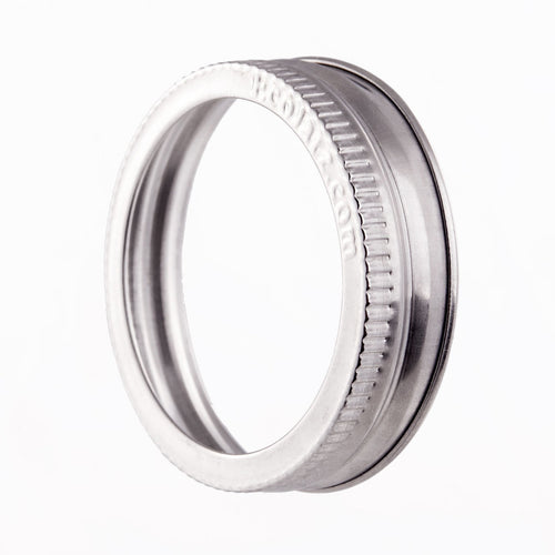 EcoJarz - Stainless Steel Jar Band/Ring - Wide Mouth