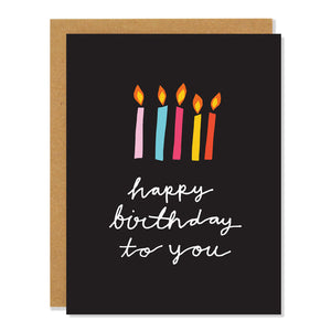 Badger & Burke - Candle Birthday card