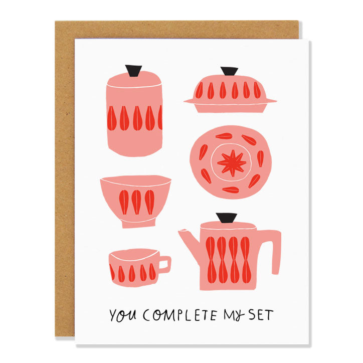 Badger & Burke - You Complete My Set card