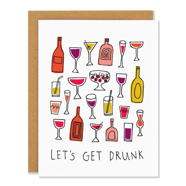 Badger & Burke - Let's Get Drunk card