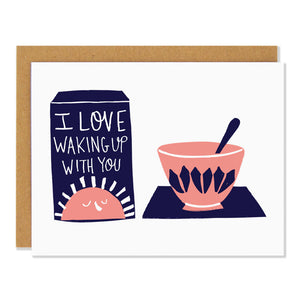 Badger & Burke - Love Waking Up With You card