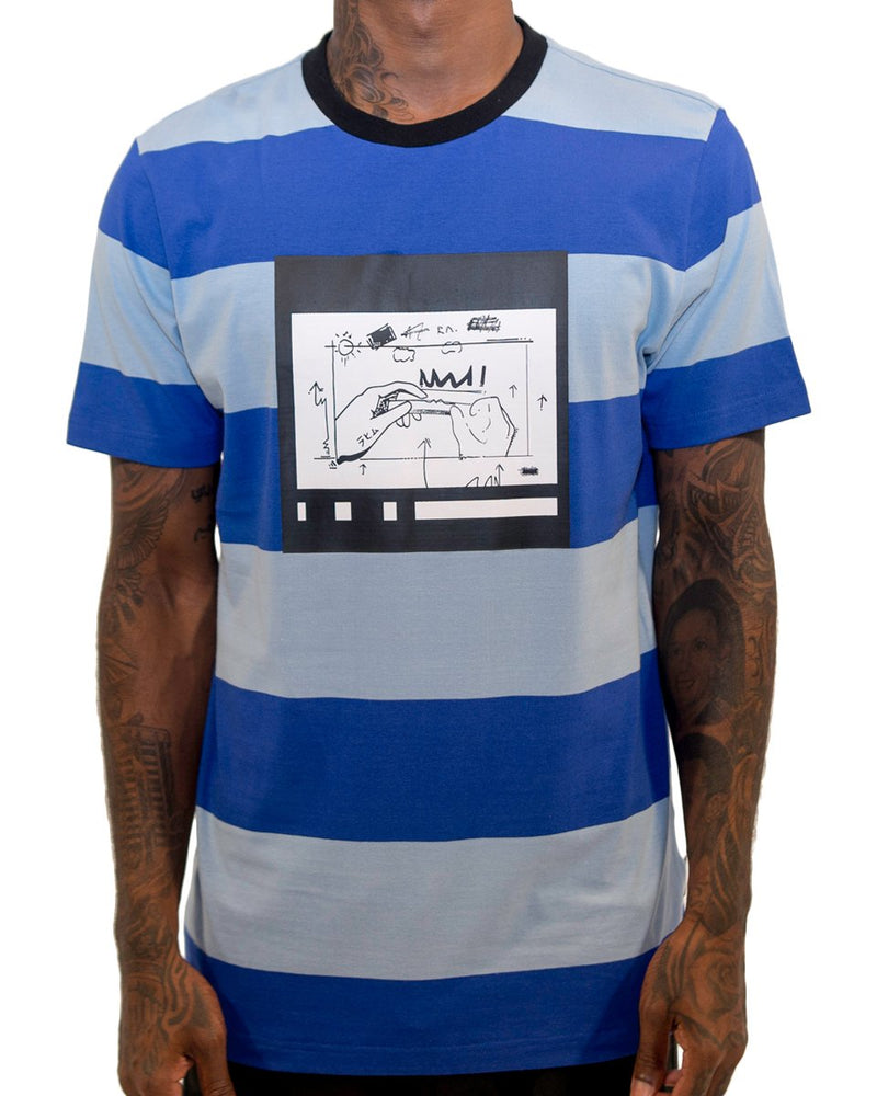 The Hide Out Clothing Roll Up Stripe T-Shirt