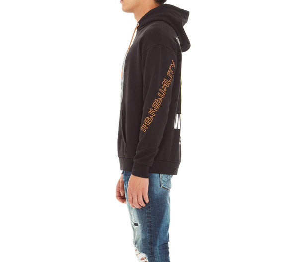 CULT OF INDIVIDUALITY PULLOVER PATCHWORK SWEATSHIRT