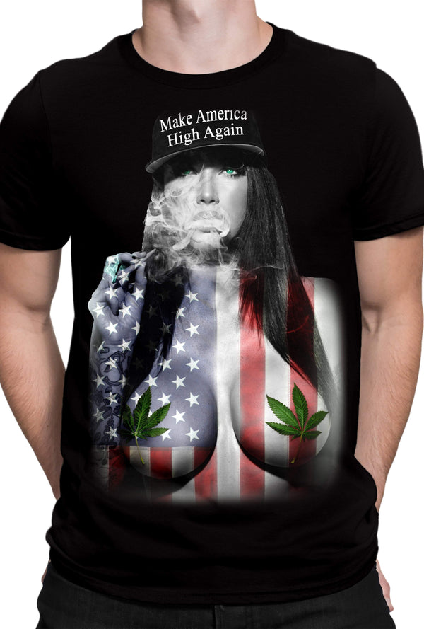 Get Down Art Make America High Again Tee