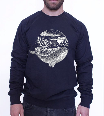 UNISEX SWEATER - WHALE MOOD