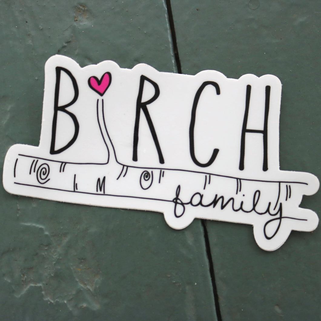 Birch Family Sticker