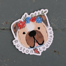 Load image into Gallery viewer, Ruston Louisiana Bulldog Sticker
