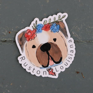Ruston Louisiana Bulldog Sticker
