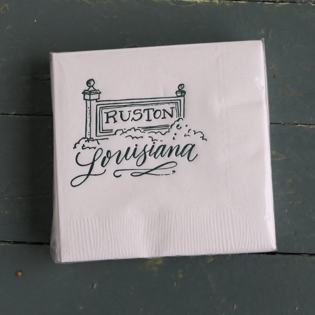 Ruston Louisiana Cocktail Napkins