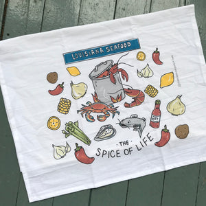 Louisiana Seafood Dish Towel