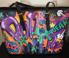 Leaky Squeaky BOOM! Heidi Tote Bag by Balloon Dog Apparel