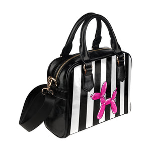 Traditional Balloon Dog - Gabi Handbag White and Pink