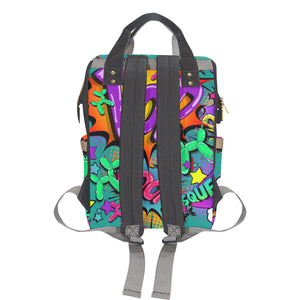 Banksy Backpack - Leaky Squeaky BOOM! (Teal)