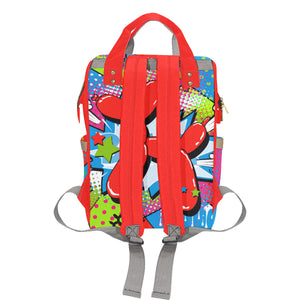 Banksy Backpack - Red Balloon Dog