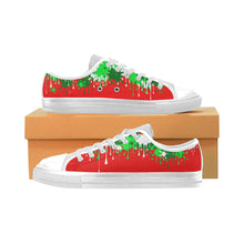 Load image into Gallery viewer, Christmas Paint - Men's Sully Canvas Shoe (SIZE 6-12)
