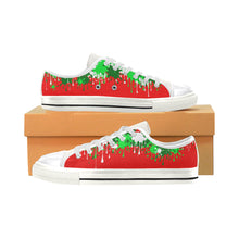 Load image into Gallery viewer, Christmas Paint - Women's Sully Canvas Shoe (SIZE 11-12)