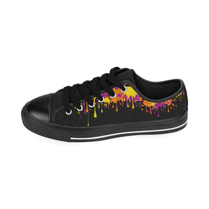 Wet Paint on Black - Women's Sully Canvas Shoe (SIZE 11-12)