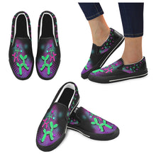 Load image into Gallery viewer, Space Dogs - Canvas Slip-On's (SIZE 11-12)