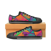 Load image into Gallery viewer, Colourful Black Dog - Women's Sully Canvas Shoes (SIZE 6 - 10)