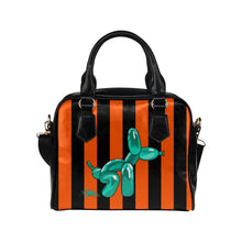 Load image into Gallery viewer, Squatting Dog - Gabi Handbag Orange and Teal