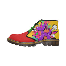 Load image into Gallery viewer, Purple Comic Dog Clown Colours - Men's Wazza Canvas Boots (SIZE 7-12)