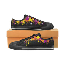 Load image into Gallery viewer, Dripping paint on Black - Men's Sully Canvas Shoe (SIZE 6-12)