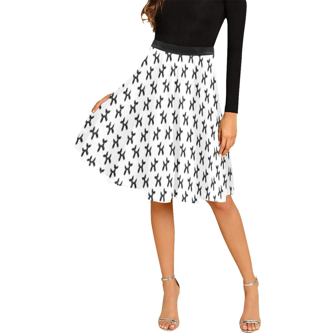 Balloon Dog Mirage on White - Catie Circle Skirt