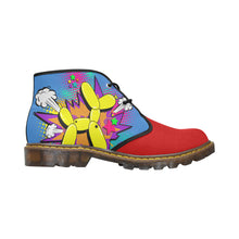Load image into Gallery viewer, Yellow Comic Dog Clown Colours - Men's Wazza Canvas Boots (SIZE 7-12)